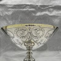 George V Sterling Silver Tazza London 1928 Theodore Rossi (4 of 10)