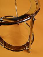 Original 1930s Art Deco Chrome & Mirror Modernist Cocktail Trolley (5 of 7)