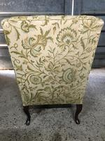 Queen Anne Style French Wing Back Chair (3 of 9)