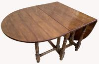 Good Quality Solid Oak Drop Leaf Table (3 of 6)