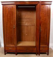 French Triple Wardrobe 19th Century Mahogany Mirrored (3 of 12)