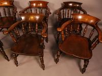 Harlequin Set of 6 Victorian Captains Chairs (10 of 10)