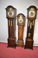 English Triple Weight Two Tune 'Westminster / Whittington / Silent' Glass Fronted Oak Grandmother or Small Grandfather Musical Longcase Clock (7 of 7)
