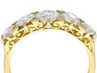 3.31ct Diamond & 18ct Yellow Gold Five Stone Ring c.1930 (2 of 9)