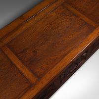 Large Antique Blanket Coffer, English, Oak, Chest, Window Seat, Edwardian, 1910 (9 of 12)