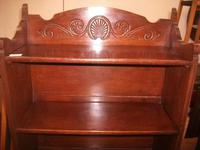 Folding Open Bookcase with Carved Upstand (2 of 4)