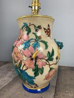 Victorian English Floral Vase Table Lamp, Rewired & Pat Tested (5 of 15)