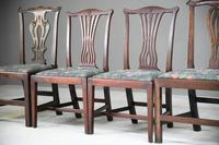 4 Antique Chippendale Style Mahogany Dining Chairs (5 of 12)