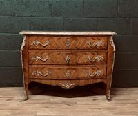 Beautiful French Louis XVI Style Tulip wood marble top commode (2 of 12)