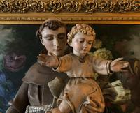 Bohumil Kafka RARE Carved Statue Sculpture St Anthony & Jesus (15 of 32)