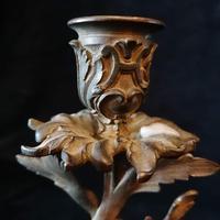Ornate Antique Bronze & Ormolu Candlestick (2 of 6)