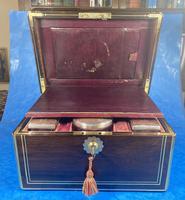 Georgian  Rosewood Brassbound Vanity Box (22 of 34)