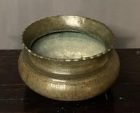 Good Size Persian 19th Century Patinated Brass Bowl (6 of 8)