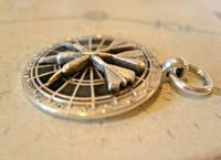 Vintage Pocket Watch Chain Fob 1952 Large Chrome & Enamel Downham Darts Fob (7 of 7)
