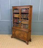 Burr Walnut Bookcase by Jas Shoolbred (19 of 19)
