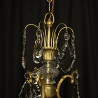 French Gilded Birdcage Antique Chandelier (4 of 8)