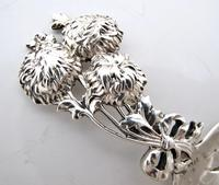 Victorian Silver Chrysanthemum Tea Caddy Spoon Tiffany & Co C1890 Price: 295 (3 of 6)
