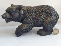 Large Detailed Vintage Bronze Grizzly Bear c1940s (10 of 10)