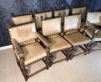 Set of Eight Oak Dining Chairs (3 of 14)