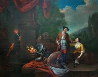 Circle of John Theodore Heins Fine Large 18th Century Hunting Oil Painting (2 of 11)