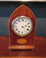 Superb Antique Sheraton Inlaid Mantel Clock