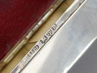 Victorian Silver Triple Compartment Stamp Box (15 of 15)