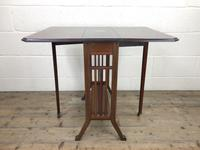 Antique Mahogany Inlaid Sutherland Side Table (6 of 9)