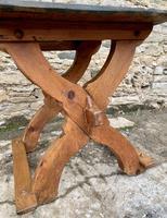 Antique Swedish Pine X-frame Trestle Table (13 of 21)