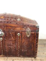 Large Leather Bound Dome Top Trunk (8 of 15)
