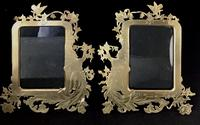 Pair of Art Nouveau Brass Figure Decorated Easel Photo Frames (4 of 4)
