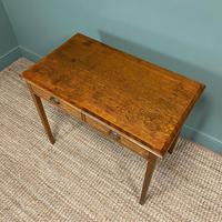 Georgian Country Oak Antique Side Table (7 of 8)