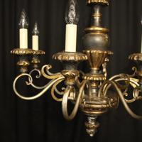 Italian Florentine Silver Giltwood 6 Light Chandelier (8 of 10)