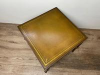 French Brass Square Leather Top Coffee Table (21 of 28)