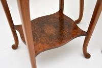 Pair of Matched Burr Walnut Edwardian Side Tables (4 of 10)