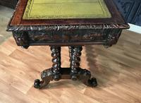 Victorian Carved Oak Desk Library Table (19 of 25)