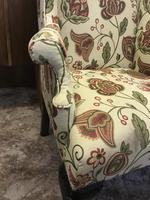 Wing Armchair Floral Material (6 of 7)