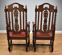 Pair of 1910 Oak Barley Twist Armchairs (4 of 15)