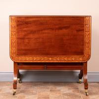 Inlaid Mahogany Edwardian Sutherland Table (2 of 19)