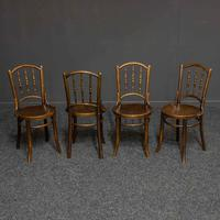 Set of Four Bentwood Chairs by Mundus and J+J Kohn LTD (7 of 9)