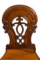 Pair of Early Victorian Period Hall Chairs (3 of 3)