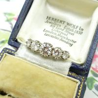 Vintage 18ct Platinum Five Stone Diamond Ring 1.20 Carat ~ with independent valuation (4 of 9)