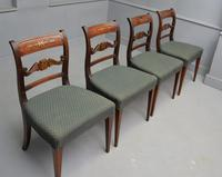 Set of Four Regency Mahogany & Brass Inlaid Dining Chairs (7 of 10)