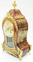 Wow! Phenomenal French Boulle Mantel Clock Ormolu Inlay 8 Day Visible Pendulum Mantle Clock (10 of 10)