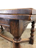 Extending Oak Draw Leaf Refectory Dining Table (2 of 17)