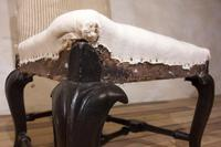 18th Century Ebonised & Upholstered Queen Anne Side Chair (6 of 13)