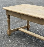 Large French Bleached Oak Farmhouse Table with Extensions (7 of 26)
