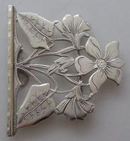 Rare 1902 Art Nouveau Hallmarked Solid Silver Nurses Belt Buckle Sydney & Co (4 of 10)