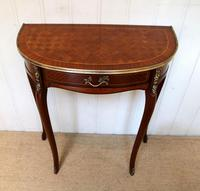 French Mahogany Demi Lune Table (9 of 10)
