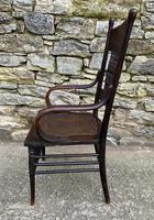 Antique American Armchair with Steamed Bentwood Arms (13 of 14)