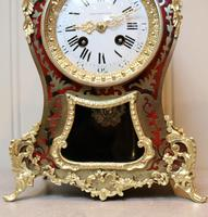 French Tortoiseshell & Brass inlay Mantel Clock (3 of 14)